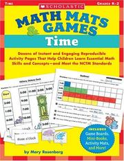 Cover of: Time (Math Mats & Games) | Mary Rosenberg
