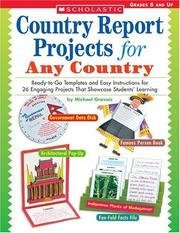 Cover of: Country Report Projects for Any Country | Michael Gravois