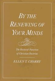 Cover of: By the Renewing of Your Minds