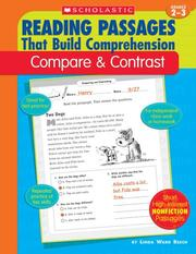 Cover of: Compare & Contrast (Reading Passages That Build Comprehensio) | Linda Ward Beech