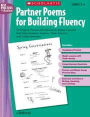 Cover of: Partner Poems for Building Fluency: 25 Original Poems With Research-Based Lessons That Help Students Improve Their Fluency and Comprehension (Best Practices in Action)