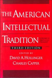 Cover of: The American Intellectual Tradition: A Sourcebook Volume II |