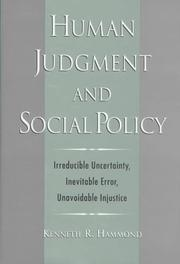 Cover of: Human Judgment and Social Policy