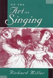 Cover of: On the art of singing