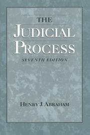 Cover of: judicial process | Henry Julian Abraham