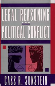 Cover of: Legal Reasoning & Political Conflict