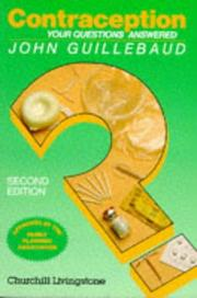 Contraception by John Guillebaud