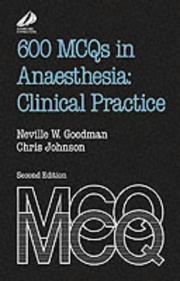 Cover of: 600 MCQs in anaesthesia