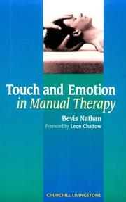 Cover of: Touch and emotion in manual therapy