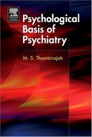 Cover of: Psychological Basis of Psychiatry (MRCPsy Study Guides) | M.S. Thambirajah