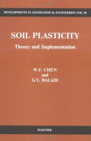 Cover of: Soil plasticity