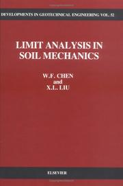 Cover of: Limit analysis in soil mechanics