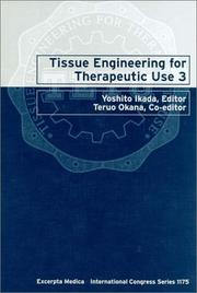 Cover of: Tissue engineering for therapeutic use 3