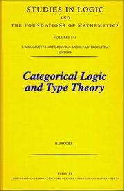 Cover of: Categorical logic and type theory