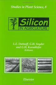Cover of: Silicon in agriculture by