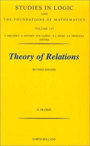 Cover of: Théorie des relations