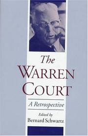 Cover of: The Warren Court