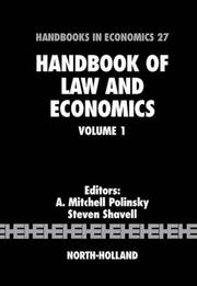 Cover of: Handbook of law and economics |
