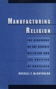 Cover of: Manufacturing religion