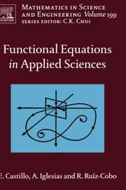 Cover of: Functional equations in applied sciences