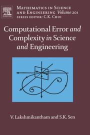 Cover of: Computational error and complexity in science and engineering