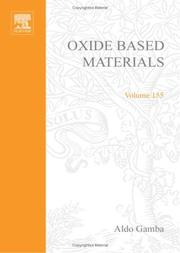 Cover of: Oxide Based Materials |