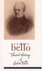 Cover of: Selected writings of Andrés Bello