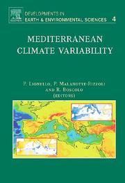 Cover of: Mediterranean Climate Variability, Volume 4 (Developments in Earth and Environmental Sciences) |