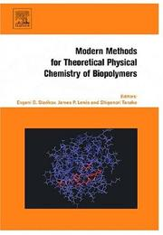 Cover of: Modern methods for theoretical physical chemistry of biopolymers |