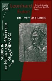 Leonhard Euler: Life, Work and Legacy
