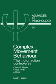 Cover of: Complex movement behaviour |