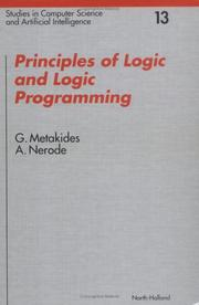 Cover of: Principles of logic and logic programming