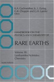 Cover of: Handbook on the Physics and Chemistry of Rare Earths : Lanthanides/Actinides |