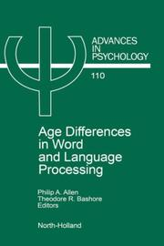 Cover of: Age differences in word and language processing |