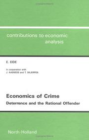 Cover of: Economics of crime | Erling Eide