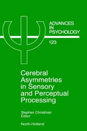 Cover of: Cerebral asymmetries in sensory and perceptual processing |