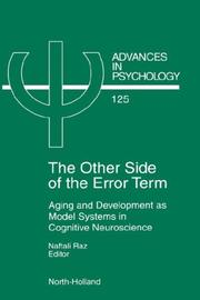 Cover of: The other side of the error term |