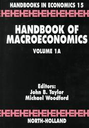 Cover of: Handbook of Macroeconomics  |