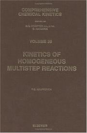 Cover of: Kinetics of homogeneous multistep reactions