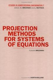Projection methods for systems of equations by Claude Brezinski