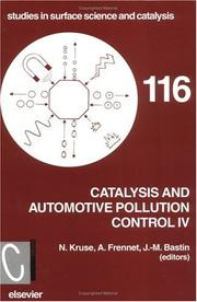 Cover of: Catalysis and automotive pollution control IV | CAPOC (4th 1997 Brussels, Belgium)
