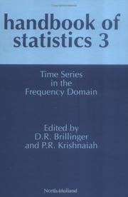 Cover of: Time series in the frequency domain |
