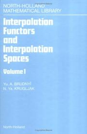 Cover of: Interpolation Functors and Interpolation Spaces  | Yu A. Brudnyi