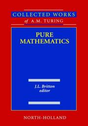 Cover of: Pure mathematics