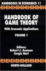Cover of: Handbook of game theory with economic applications