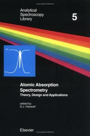 Cover of: Atomic absorption spectrometry |