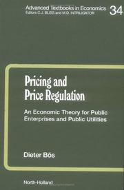 Cover of: Pricing and price regulation
