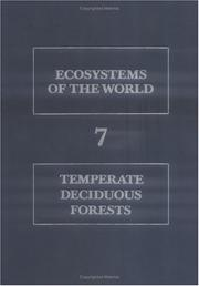 Cover of: Temperate deciduous forests | edited by E. Röhrig and B. Ulrich.