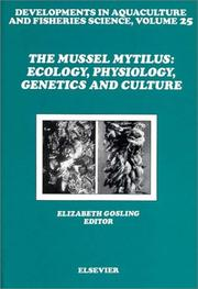 Cover of: The Mussel Mytilus | Elizabeth Gosling