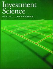 Cover of: Investment science